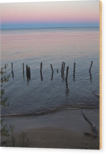 The Pastel Palette Of Whitefish Bay Wood Print