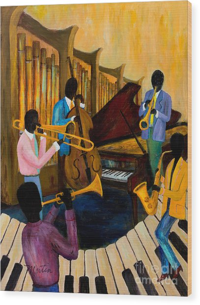 The Pastels Wood Print by Larry Martin