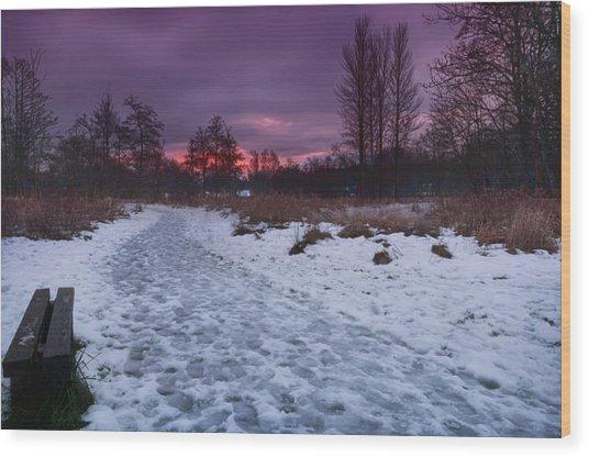 The Path By Dusk Wood Print