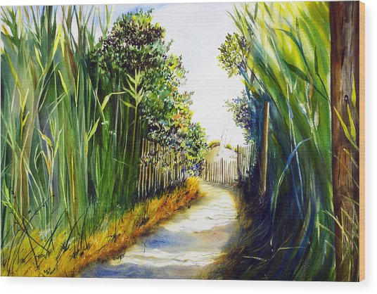 The Path Home Wood Print