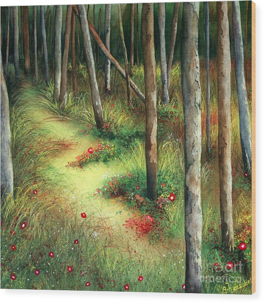 The Path Less Traveled Wood Print