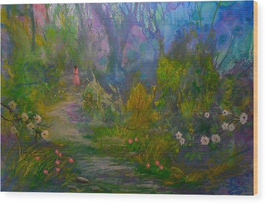 The Peaceful Path Wood Print