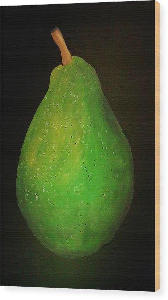 Green Pear Wood Print