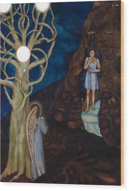 The Pearl Wood Print by Rebecca Barham
