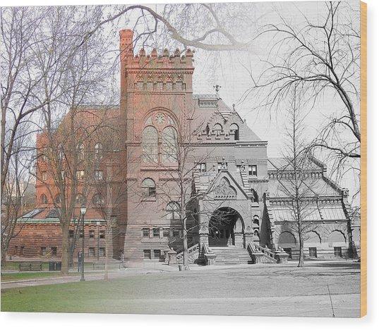 The Penn Library Wood Print