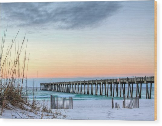 The Pensacola Beach Pier Wood Print
