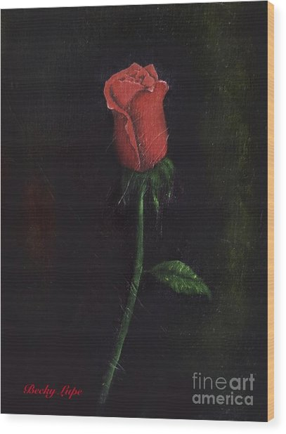 The Perfect Rose Wood Print