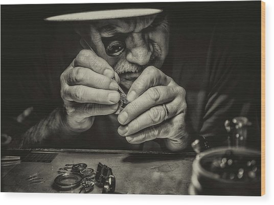 The Perfectionist Wood Print by Mandru Cantemir