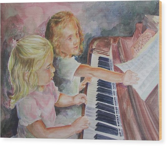The Piano Lesson Wood Print