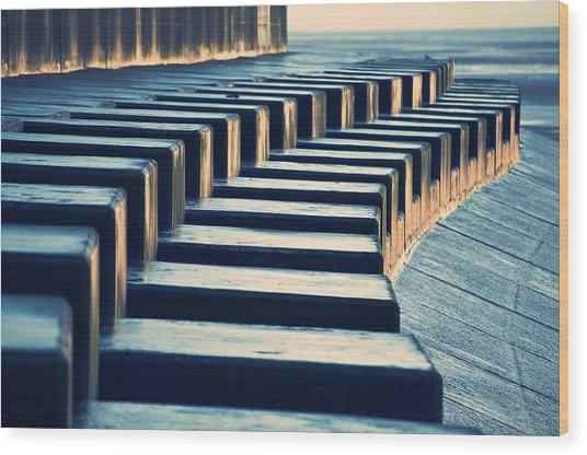 The Piano Wood Print