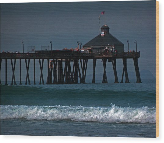 The Pier At Imperial Beach Wood Print