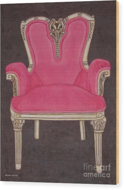 The Pink Chair Wood Print