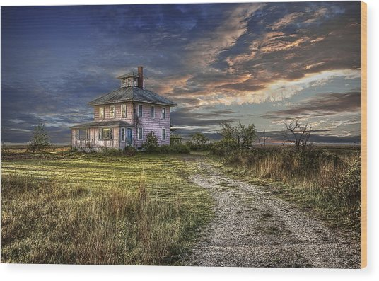 The Pink House - Color Wood Print