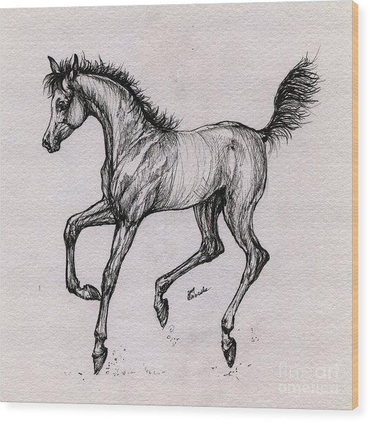 The Playful Foal Wood Print by Angel Ciesniarska