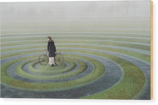 The Point Of No Return Wood Print by Esther Margraff