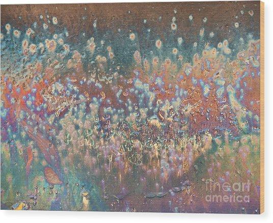 The Polar Lights Abstract Wood Print