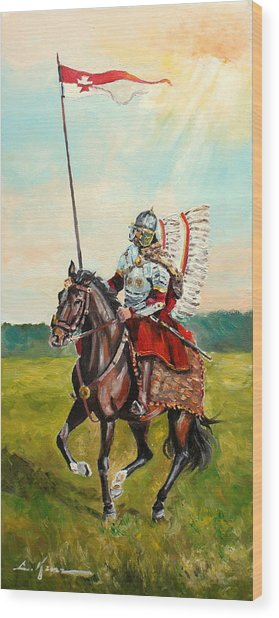 The Polish Winged Hussar Wood Print