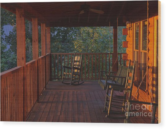 The Porch Beckons Wood Print by Kay Pickens