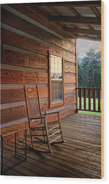 The Porch Wood Print by Victoria Winningham