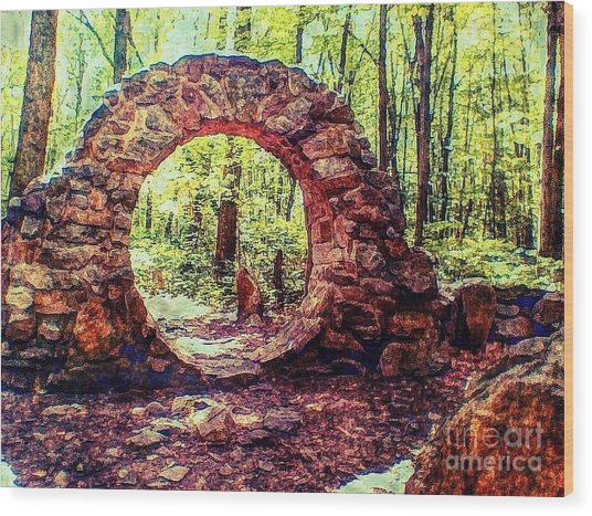 The Portal To Love Life Peace 1 Wood Print