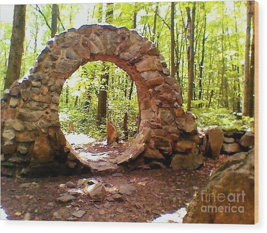 The Portal To Love Life Peace Wood Print