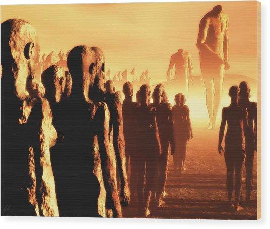 The Post Apocalyptic Gods Wood Print