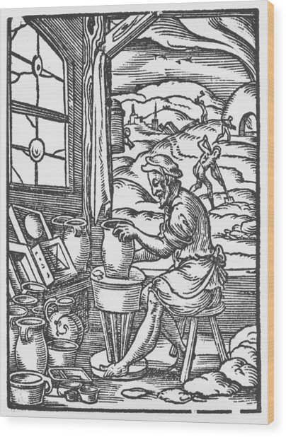 The Potter, 1574 Wood Print