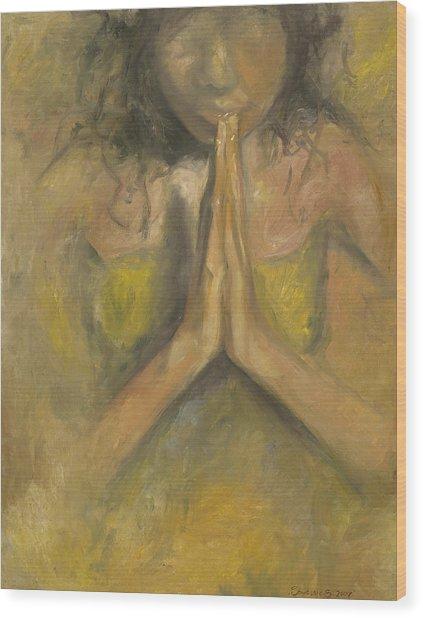 The Power Of Prayer - Blind Faith Wood Print