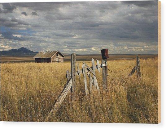The Prairies Wood Print