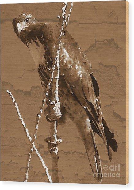 The Predator Digital Painting Wood Print