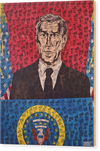 The Presidential Puppet Wood Print