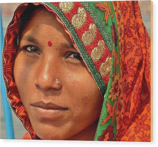 The Pride Of Indian Womenhood Wood Print