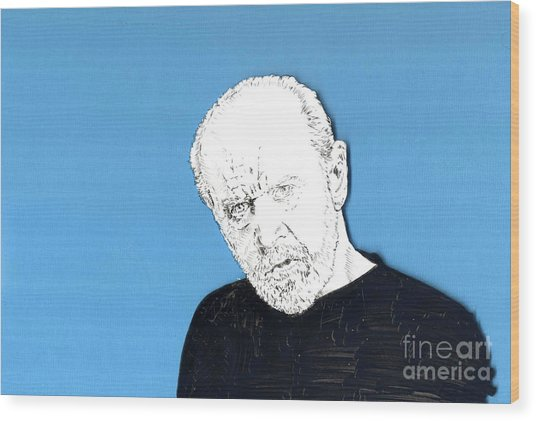 The Priest On Blue Wood Print