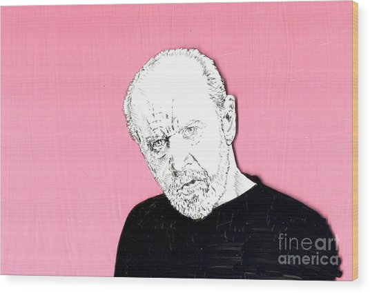 The Priest On Pink Wood Print