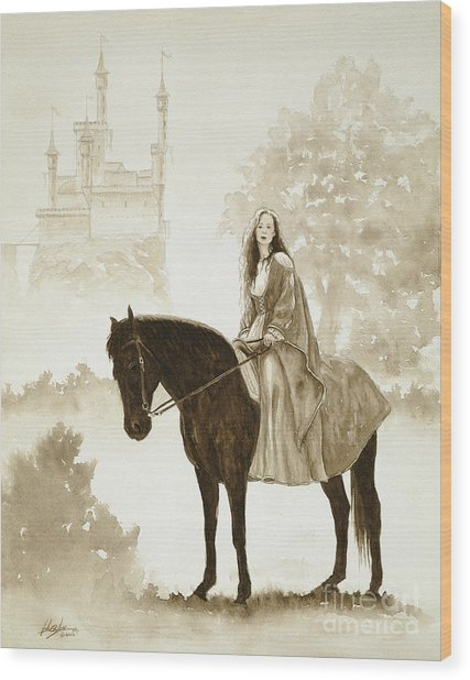 The Princess Has A Day Out. Wood Print by John Silver