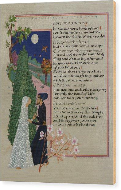 The Prophet - Kahlil Gibran  Wood Print