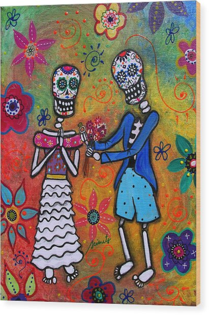 The Proposal Day Of The Dead Wood Print