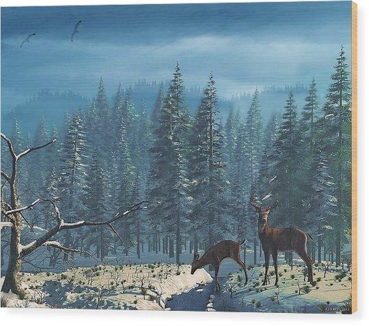 The Protector Wood Print