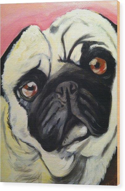 The Pug Wood Print by Melissa Bollen