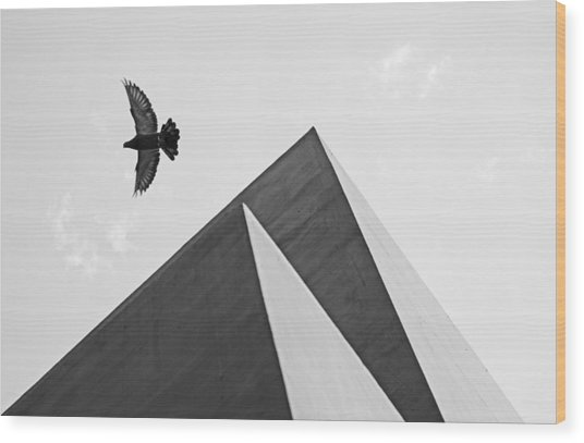 The Pyramids Of Love And Tranquility Wood Print