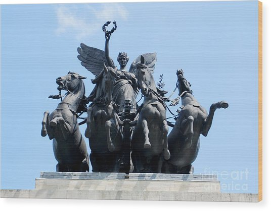 The Quadriga Wood Print