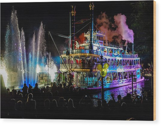 The Mark Twain Disneyland Steamboat  Wood Print