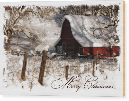 The Quiet - A Christmas Card Wood Print