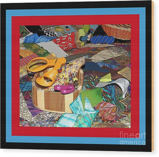 The Quilters Table Wood Print
