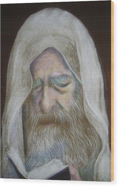 The Rabbi Wood Print by Maxwell Mandell