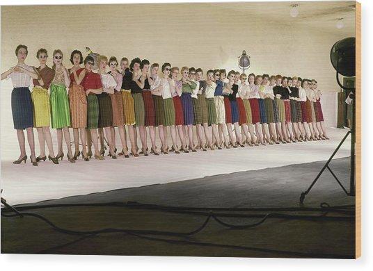 The Radio City Rockettes Wood Print