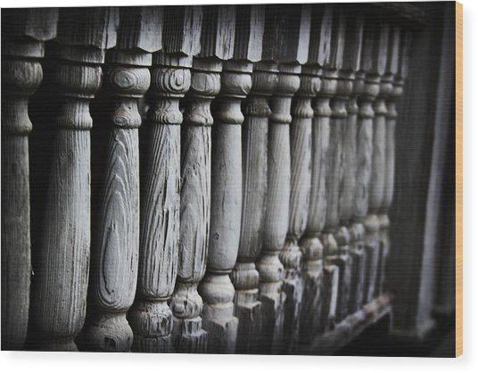 The Railing Wood Print