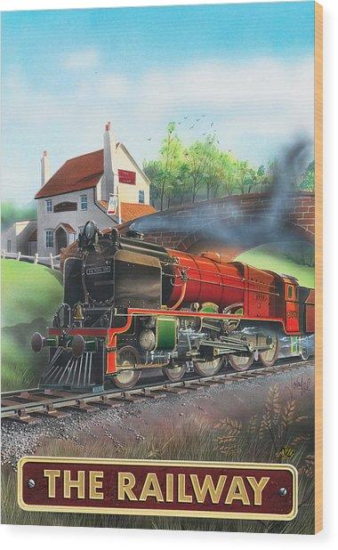 The Railway Wood Print