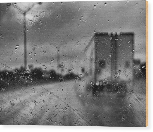 The Rain Makes Mysteries Wood Print