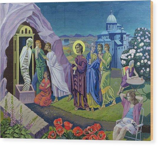 The Raising Of Lazarus, 1987 Wood Print